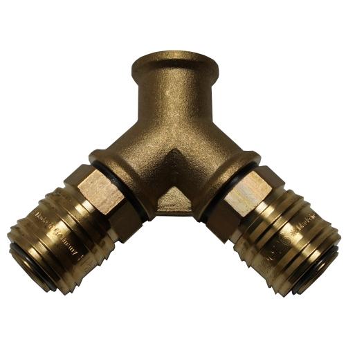2-fach Verteiler - 3/8 Zoll IG - 2x Kupplung