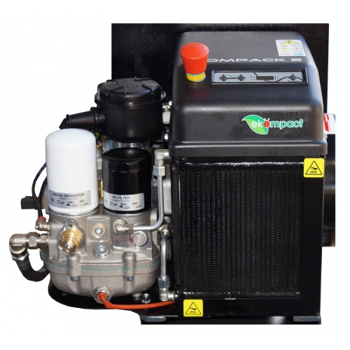 Aerotec Schraubenkompressor COMPACK 2 TR - 90L PRO mit Trockner- 400 Volt