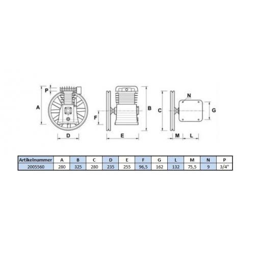 Aggregat B2800B - 11 Bar - 2 Zylinder - 400 Volt
