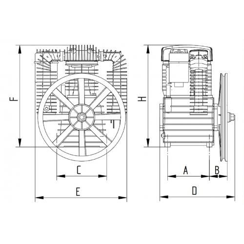 SHM K25 Aggregat - 2 Zylinder - Doppelstufig - mit Nachkühler