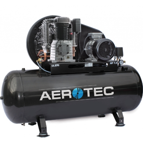 Aerotec Druckluft Kompressor Kolbenkompressor liegend 400 Volt