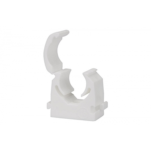 Rohrklemme Außendurchmesser 18 mm weiß