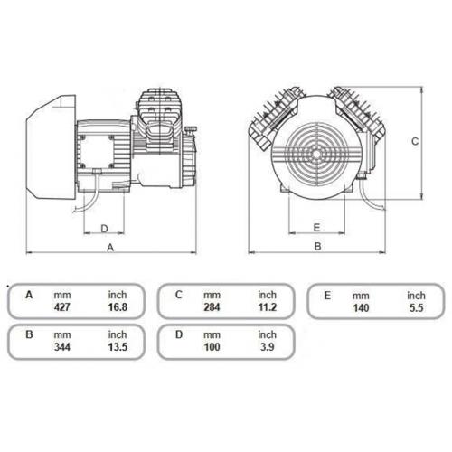 Aggregat VDC - 11 Bar - 2 Zylinder - 230 Volt