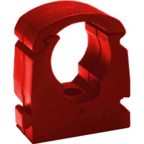 Rohrklemme Außendurchmesser 18 mm rot