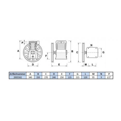 Aggregat VCF - 11 Bar - 2 Zylinder - 400 Volt
