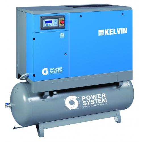 Schraubenkompressor KELVIN 22-10 500L Tank mit Trockner